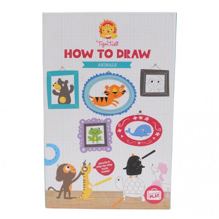 Фото - Принадлежности для рисования Tiger Tribe Учимся рисовать Животные учимся рисовать для девочек