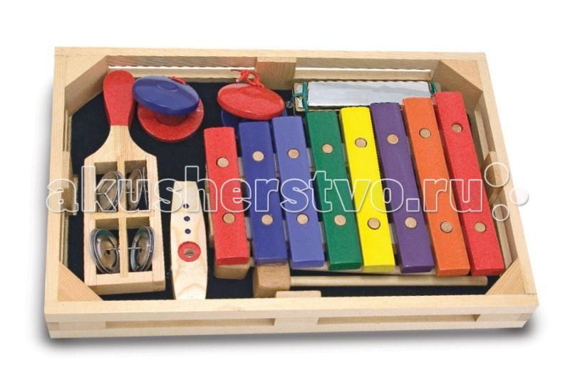 Музыкальные игрушки Melissa & Doug Набор музыкальных инструментов 7 элементов набор инструментов квалитет нир 104