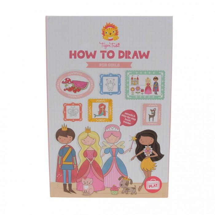 Купить Принадлежности для рисования, Tiger Tribe Учимся рисовать Для девочек