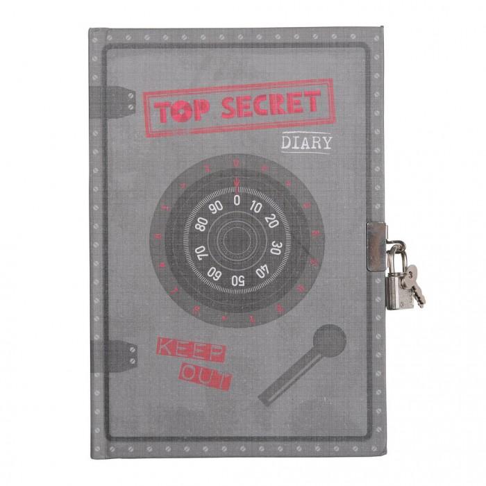 Канцелярия Tiger Tribe Личный дневник с замочком Совершенно секретно мой личный дневник на 3 года горошек