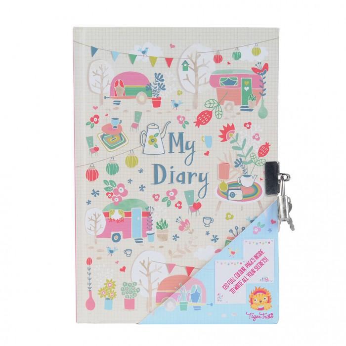 Канцелярия Tiger Tribe Личный дневник с замочком Караван серебряный дневник принцессы