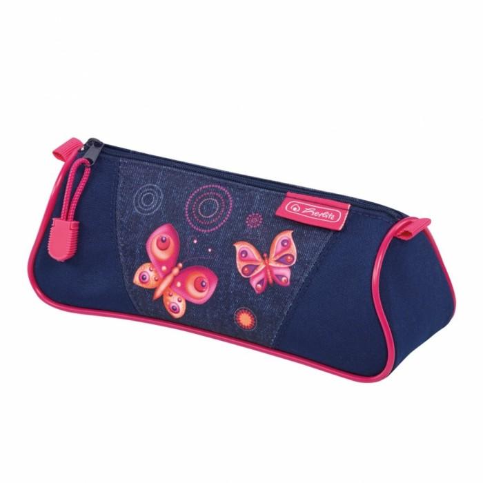 Пеналы Herlitz Пенал-косметичка Triangular Butterfly Dreams косметичка dumpling packages 2014