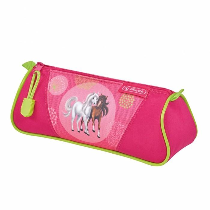 Пеналы Herlitz Пенал-косметичка Triangular Spring Horses косметичка dumpling packages 2014