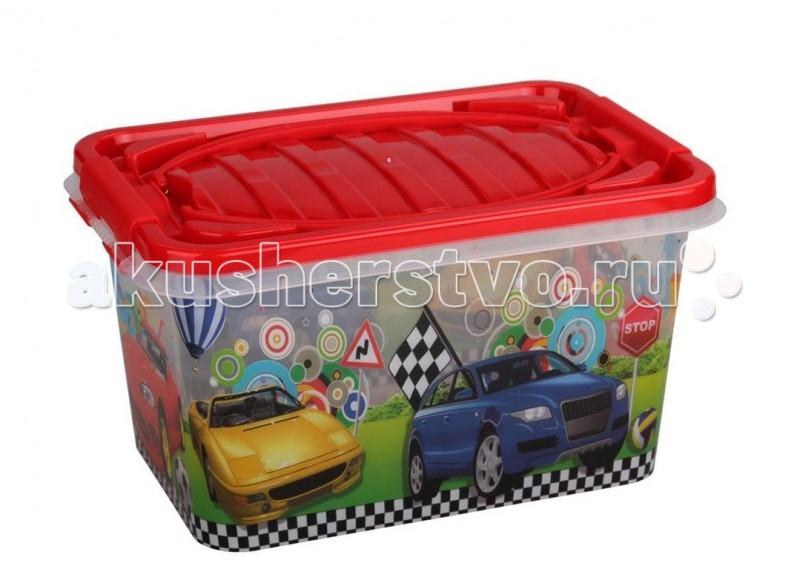 Ящики для игрушек Альтернатива (Башпласт) Контейнер Форсаж 15 л контейнер для мусора альтернатива герберы 18 л