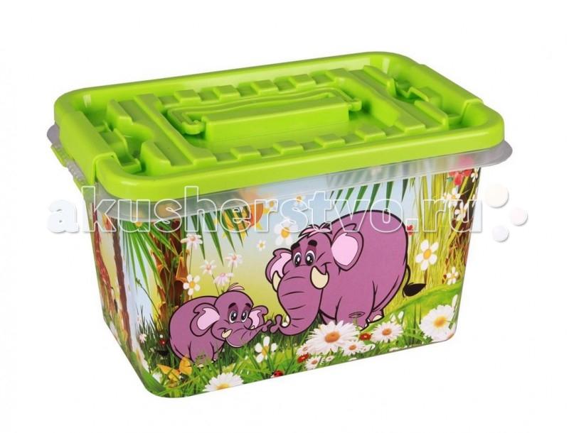 Ящики для игрушек Альтернатива (Башпласт) Контейнер Чудо-остров 4 л каталки альтернатива башпласт слонёнок