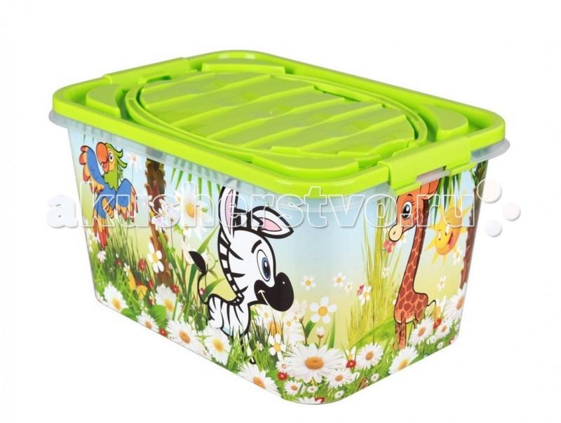 Ящики для игрушек Альтернатива (Башпласт) Контейнер Чудо-остров 7 л каталки альтернатива башпласт слонёнок