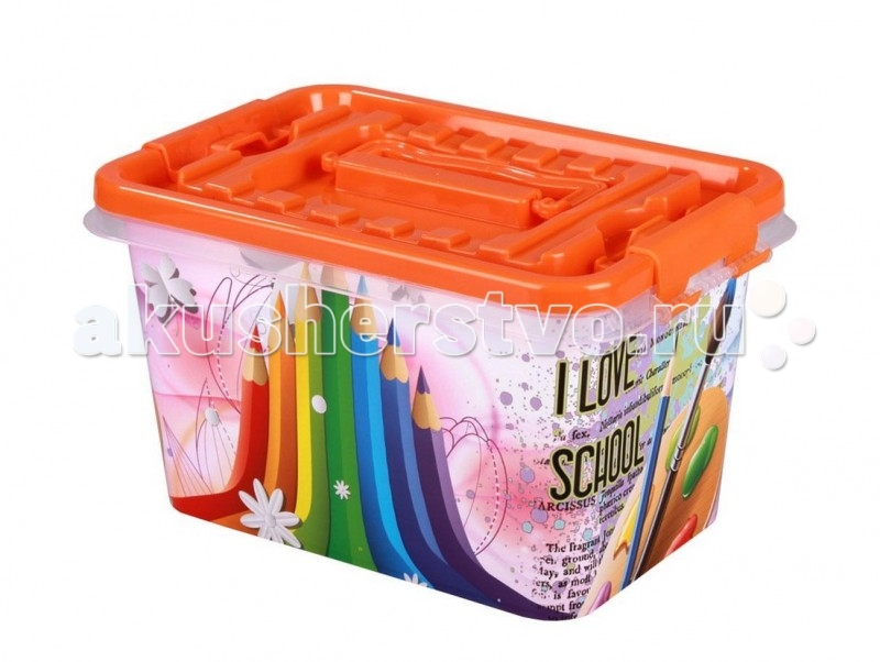 Ящики для игрушек Альтернатива (Башпласт) Контейнер Школьник 4 л контейнер круглый с крышкой и ручками 5л альтернатива м097