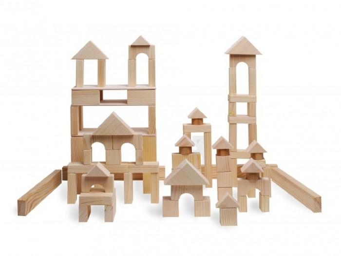 Купить Деревянные игрушки, Деревянная игрушка Paremo конструктор 85 деталей неокрашенный в пакете