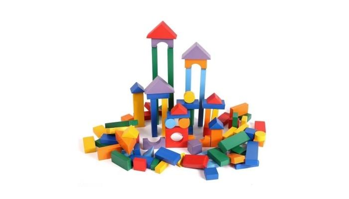 Деревянная игрушка Paremo конструктор 85 деталей окрашенный в пакетеДеревянные игрушки<br>Paremo Деревянный конструктор 85 деталей окрашенный в пакете прекрасная игрушка для детей.   В комплекте:  1. Длинный брусок 2 шт. - 27.8 х 3.4 х 1.7  2 Средний брусок 2 шт. - 21 х 3.4 х 1.7  3. Короткий брусок 6 шт. - 14 х 3.4 х 1.7  4. Брус 2х 28 шт. - 7 х 3.4 х 1.7  5. Кубик квадрат 6 шт. - 3.4 х 3.4 х 3.4  6. Кубик диагональ 8 шт. - 3.4 х 3.4 х 3.4  7. 1/2 кубика 10 шт. - 3.4 х 3.4 х 1.7  8. Арка распиленная 4 шт. - 7 х 3.2 х 1.7  9. Арка не распиленная 2 шт. - 7 х 6.5 х 1.7  10. Круги 4 шт. - диагональ 3.5, толщина 1.7  11. Бревна узкие 6 шт. - 7 х 1.7 х 1.7  12. Треугольники большие 4 шт. - 6.7 х 6.7 х 3.4  13. Фанерные пластины 3 шт. - 21 х 10.5 х 0.4