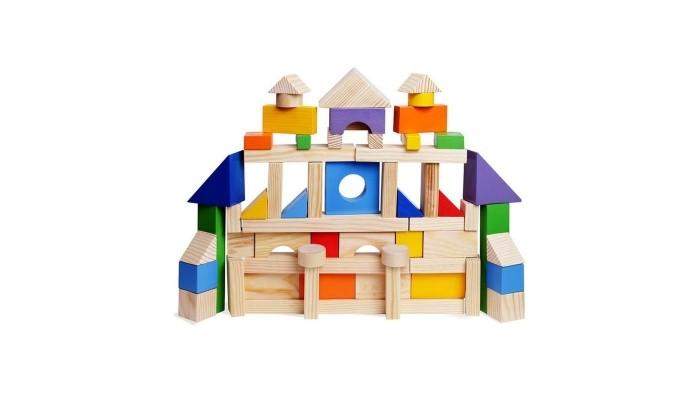 Деревянная игрушка Paremo конструктор 85 деталей окрашенный в пакете PE117