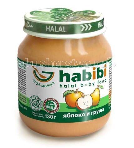 Пюре Habibi Пюре Яблоко и груша 130 г habibi пюре груша без сахара 100 г
