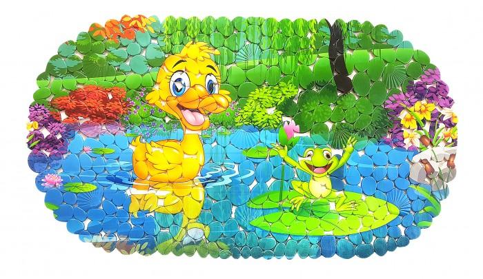 Коврики для купания Uviton для ванной противоскользящий Волшебное озеро 69х39 см коврик для ванной tatkraft spa серая галька противоскользящий 69 x 39 см