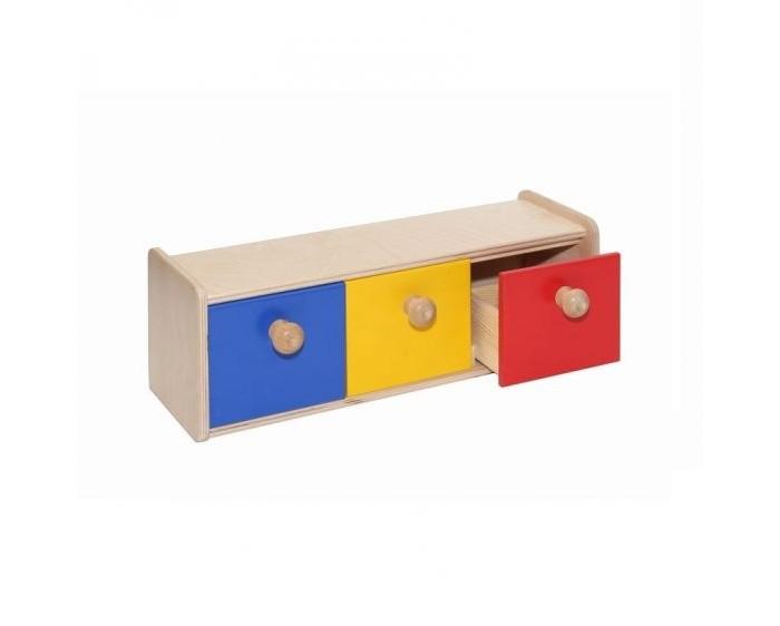 Деревянные игрушки Paremo Развивающий Шкафчик с тремя ящичками