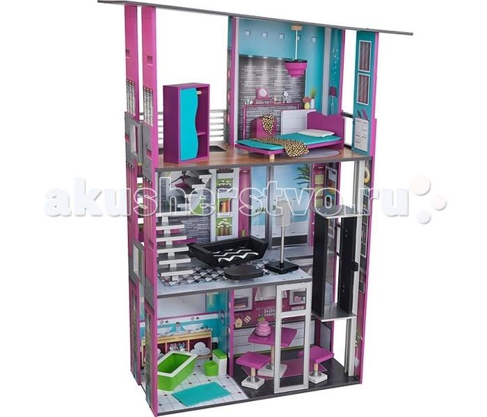 Кукольные домики и мебель KidKraft Деревянный дом для кукол Гламурный с мебелью, Кукольные домики и мебель - артикул:508576