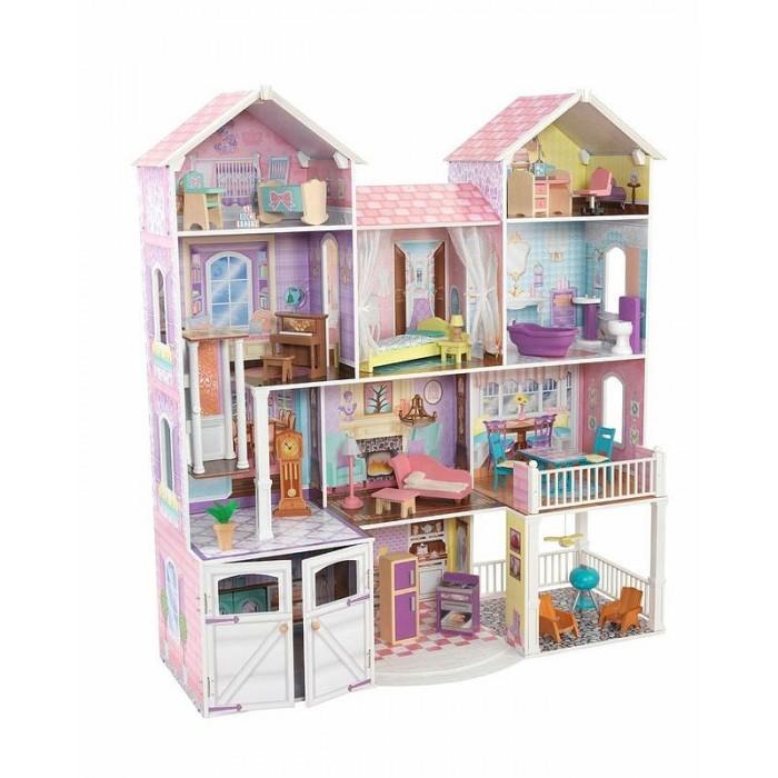 Кукольные домики и мебель KidKraft Дом для классических кукол до 32 см Загородная усадьба с мебелью, Кукольные домики и мебель - артикул:508631
