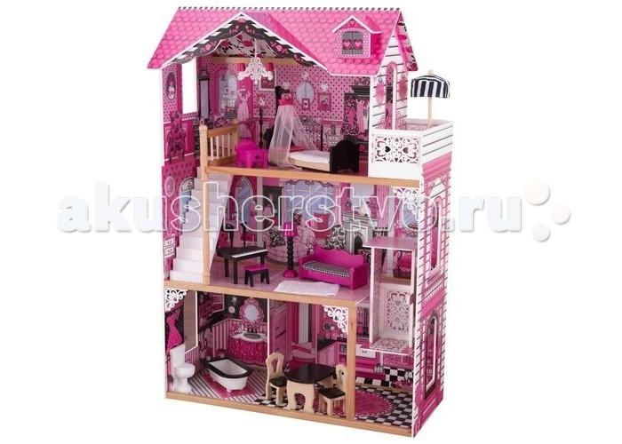 Кукольные домики и мебель KidKraft Кукольный домик для Барби Амелия с мебелью