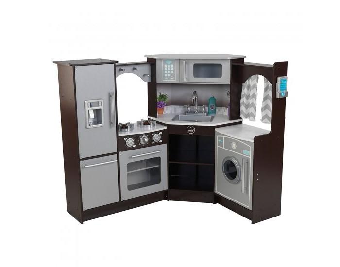 Купить Кукольные домики и мебель, KidKraft Большая детская игровая кухня Эспрессо-Интерактив угловая