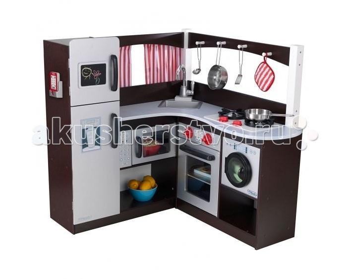 Купить Кукольные домики и мебель, KidKraft Большая детская игровая кухня Эспрессо угловая