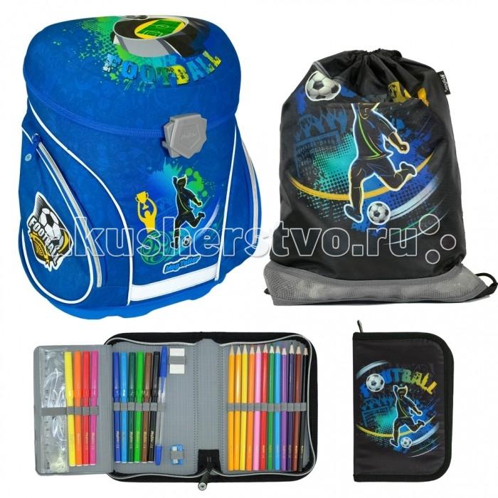 Купить Школьные рюкзаки, Magtaller Ранец школьный J-flex Football с наполнением