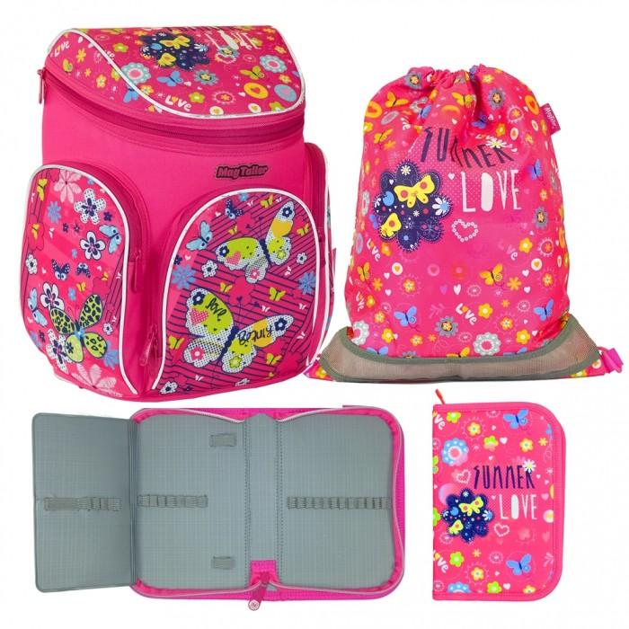 Школьные рюкзаки Magtaller Ранец школьный Boxi Butterfly с наполнением