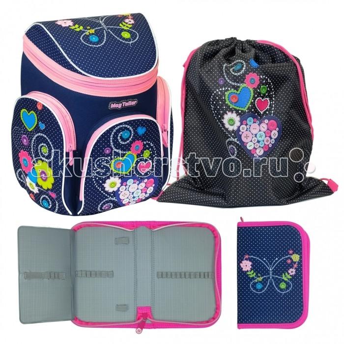 Школьные рюкзаки Magtaller Ранец школьный Boxi Hearts с наполнением пеналы magtaller пенал boxi hearts