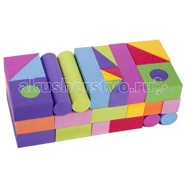 Конструктор Moove&amp;Fun мягкий 48 блоков MF-EVA-08мягкий 48 блоков MF-EVA-08Конструктор Moove&Fun мягкий – необходимый и веселый помощник в развитии мелкой моторики, что, в свою очередь, способствует развитию речи ребенка, зрения, внимания, памяти, его воображения и интеллекта.  Игровой мягкий набор 48 блоков. Толщина блока 6 см.  Мягкие и безопасные конструкторы знакомят ребенка с формой, цветом, размером. Вспомните, какие цвета имели игрушки из Вашего детства? Ограниченный набор тусклых типовых цветов : красный, белый, синий, зеленый, желтый, белый. Мы заботимся о том, чтобы детство наших детей было ярким и интересным. И говорим «нет» блеклым невыразительным цветам! Создавайте любые игровые формы ярких сочных цветов с помощью мягких конструкторов !   Элементы конструктора не впитывают воду, но если их намочить, они прилипают к поверхности ванны, к плитке, друг к другу.   Материал: EVA (Этиленвинилацетат-безопасный, экологически чистый материал) Производство соответствует стандарту ISO9001 сертификации систем качества США  Способы ухода: При необходимости протирать мягкой тканью, смоченной в слабом мыльном растворе. Запрещается применять растворители, сольвенты, абразивные вещества для очистки набора.<br>