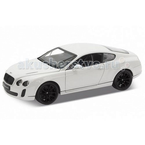 Машины Welly Модель машины 1:24 Bentley Continental Supersports welly welly гараж 3 машины и вертолет