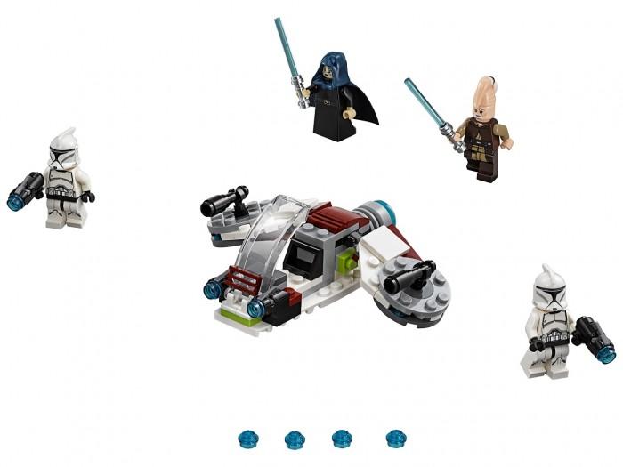 Lego Lego Star Wars 75206 Лего Звездные Войны Боевой набор джедаев и клонов-пехотинцев lego lego star wars 75074 лего звездные войны снеговой спидер