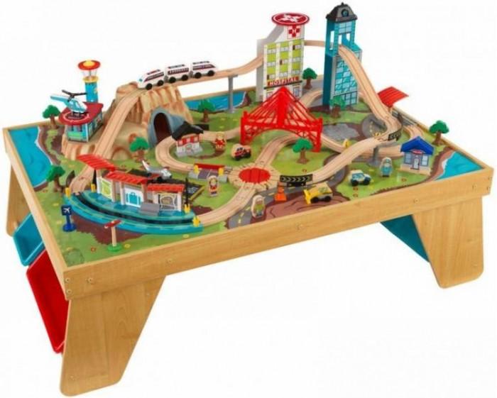KidKraft Деревянная железная дорога со столом Аэросити