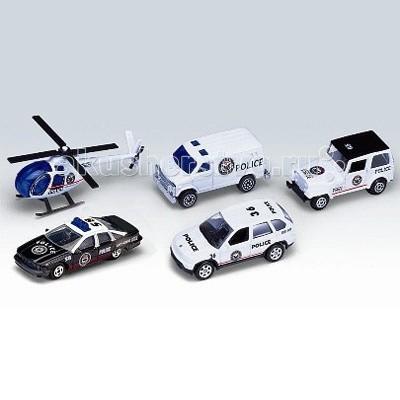 Машины Welly Набор Полицейская команда 5 шт.