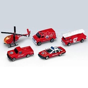 Машины Welly Набор Пожарная команда 5 шт. welly welly модель машины газель пожарная охрана