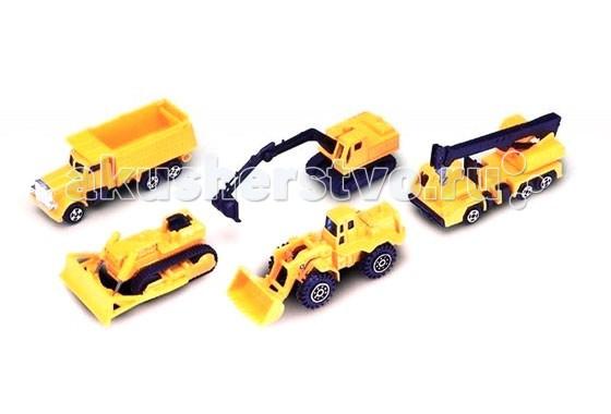 Машины Welly Набор Строительная бригада 5 шт. строительная бригада гоночная команда