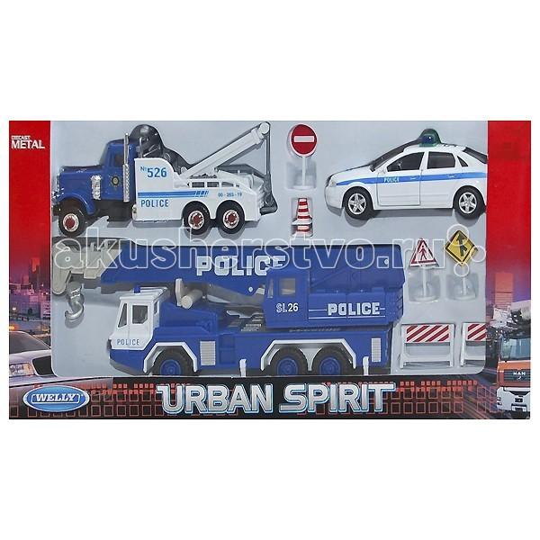 Машины Welly Набор машин Полиция 10 шт. игра beboy набор полиция it100555 38x26x3cm