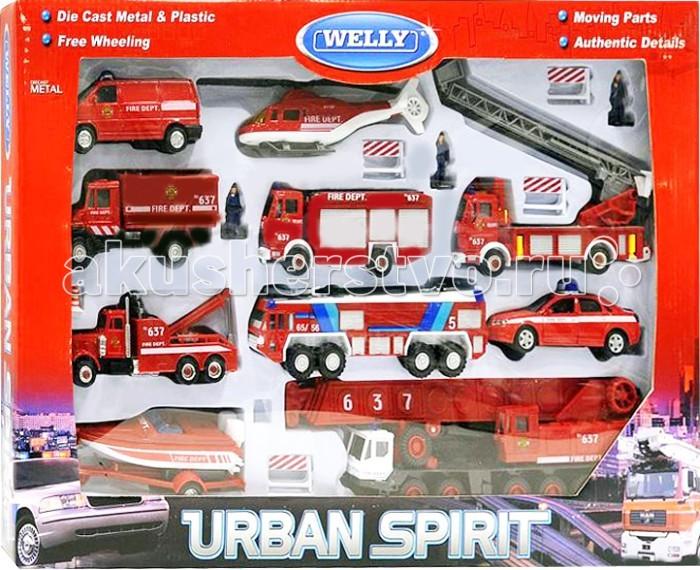 Welly Набор машин Пожарная служба 20 шт.Набор машин Пожарная служба 20 шт.Набор машин Пожарная служба 20 шт.  Размер машин: 8-28 см<br>