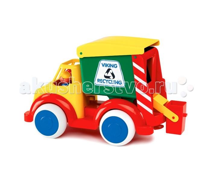 Купить Машины, Viking Toys Функциональная машинка Мусоровоз 35 см с 2 фигурками