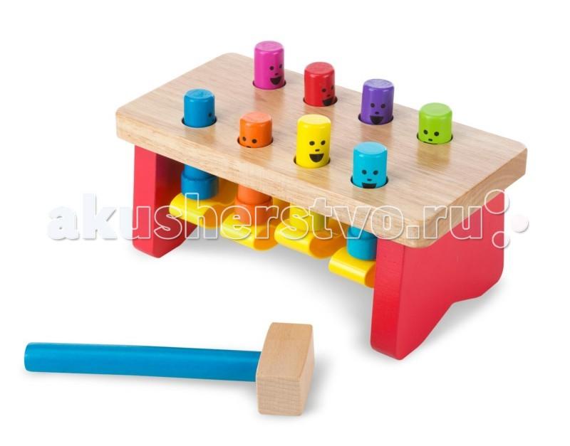 Деревянная игрушка Melissa & Doug Классические игрушки забить в лунки Deluxe