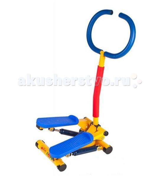 Moove&amp;Fun Тренажер механический Степпер с ручкойТренажер механический Степпер с ручкойТренажер Moove&Fun детский механический Степпер с ручкой  выполнен в оригинальном и ярком дизайне. Идеально подходит для проведения тренировок детей в игровой форме.   Особенности:    Тренажер укрепляет сердечно-сосудистую систему, позволяет активно развивать мышцы спины, ног, плечевого пояса и пресса.   Тренажер с успехом может применяться как дома, так и в любых детских учреждениях, комнатах отдыха.  Тренажер способствует развитию координации движений, развивает мышцы ног;  Ручка позволяет удобно держаться во время тренировки, что является дополнительным элементом безопасности. Тренируясь, ребенок может не отвлекаться от любимых мультфильмов;  Компактная и устойчивая конструкция;   Длина: 50 Ширина: 40 Высота: 86,5 Максимальный вес ребенка, кг: 50<br>
