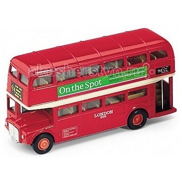 Машины Welly Модель автобуса 1:34-39 London Bus welly london bus 99930