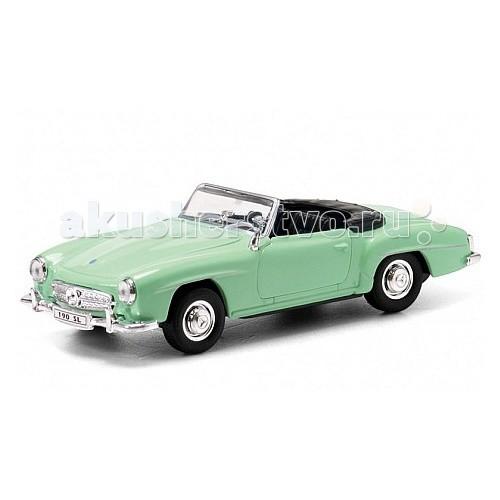 Машины Welly Модель винтажной машины 1:34-39 Mercedes Benz 190SL 1955 welly 84002 велли радиоуправляемая модель машины 1 24 mercedes benz sls amg