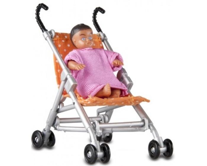 Кукольные домики и мебель Lundby Аксессуары для домика Прогулочная коляска и малыш