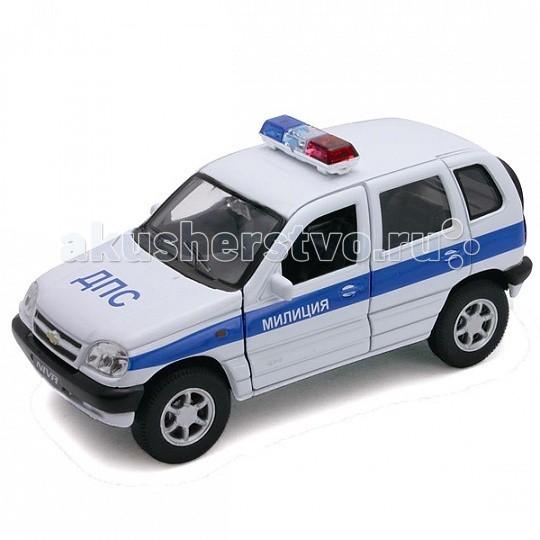 цены Машины Welly Модель машины 1:34-39 Chevrolet Niva Милиция ДПС
