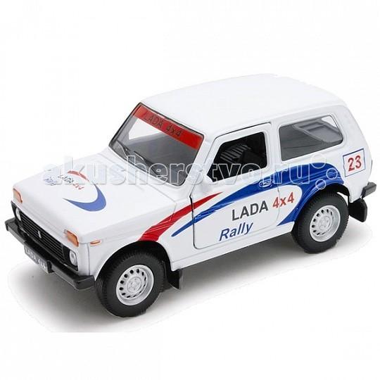 Машины Welly Модель машины 1:34-39 Lada 4x4 Rally машины welly модель машины 1 34 39 lada 4x4 пожарная охрана 42386fs