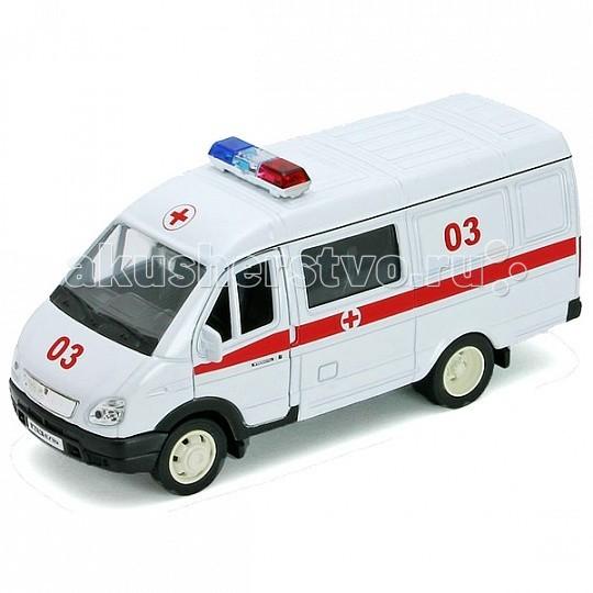 Машины Welly Модель машины 1:34-39 ГАЗель Скорая помощь welly welly набор служба спасения скорая помощь 4 штуки