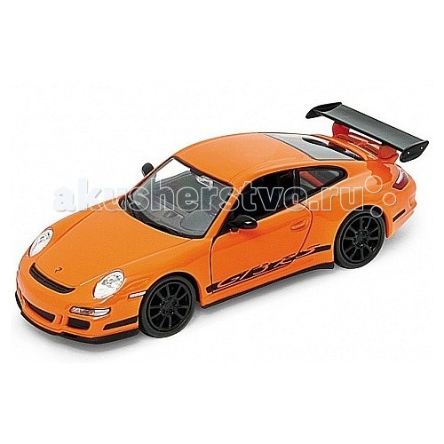 Машины Welly Модель машины 1:34-39 Porsche GT3 RS welly welly гараж 3 машины и вертолет