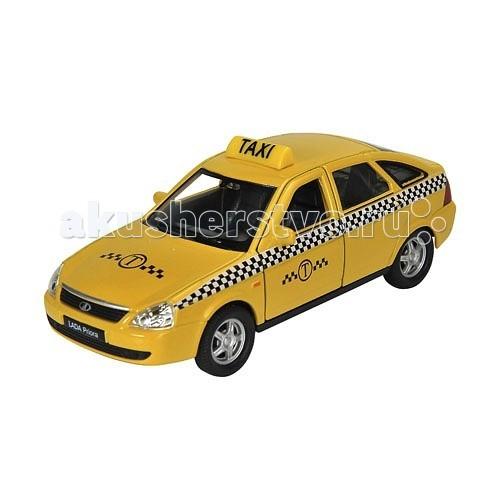 Машины Welly Модель машины 1:34-39 Lada Priora Такси машины welly модель машины 1 34 39 toyota land cruiser prado