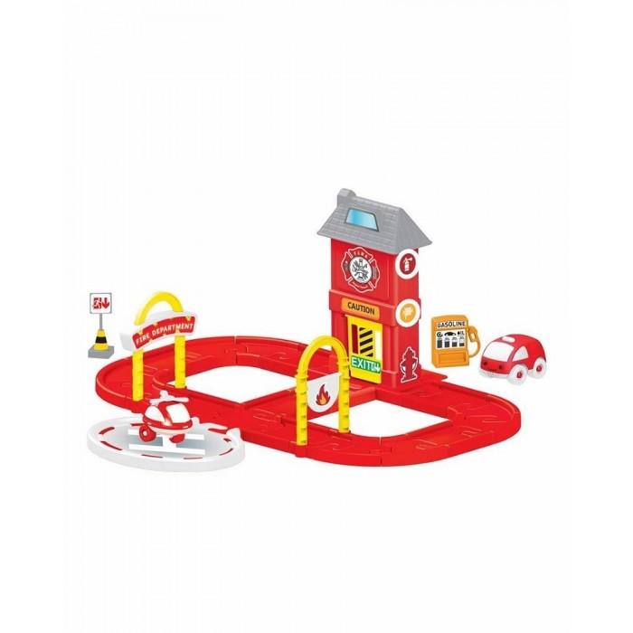 Машины Dolu Игровой набор пожарная станция с круговой дорогой игровой набор hasbro город пожарная станция b3415