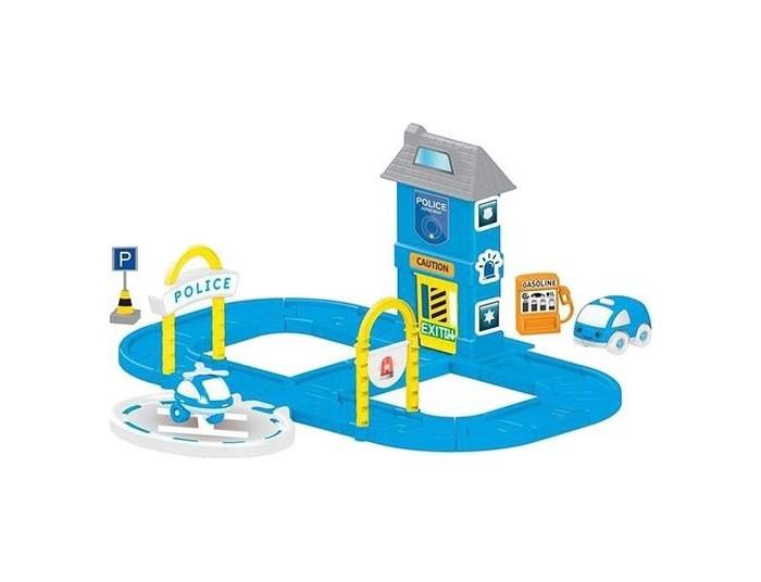 Машины Dolu Игровой набор полицейская станция с круговой дорогой игровой набор ouaps бани полицейская станция