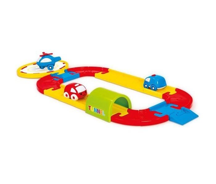 Машины Dolu Игровой набор круговая дорога с машинками 24 детали