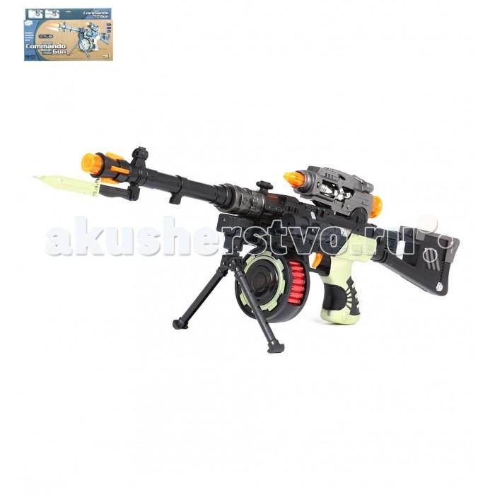 Картинка для Игрушечное оружие Игруша Детский Автомат со светом и звуком 12218b-1
