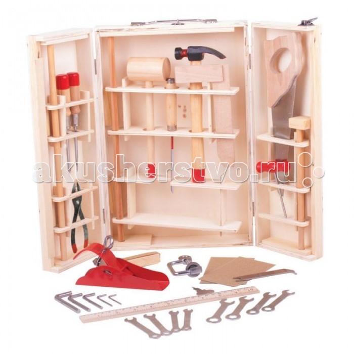 Фото Ролевые игры Bigjigs Набор настоящих инструментов для мальчика 28 предметов набор инструментов persian 28